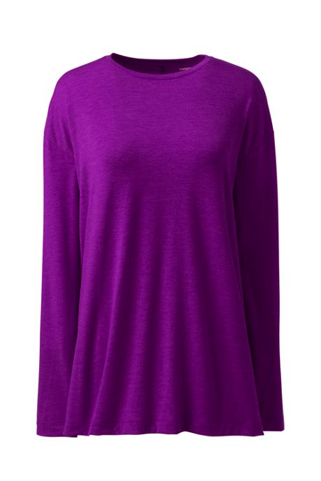 Women's Plus Size Moisture Wicking UPF Sun Long Sleeve Tunic Top