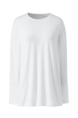 Women's Plus Essential Long Sleeve Tunic T-shirt