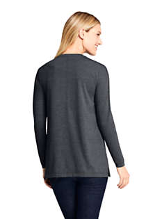 Women's Petite Moisture Wicking UPF 50 Sun Long Sleeve Tunic Top, Back