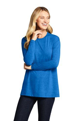 Women's Plus Essential Long Sleeve Tunic T-shirt