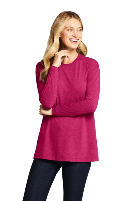 Women's Tall Moisture Wicking UPF Sun Long Sleeve Tunic Top
