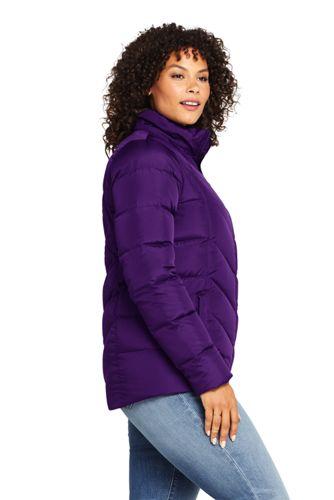Women's Plus Size Faux Fur Hooded Down Winter Jacket
