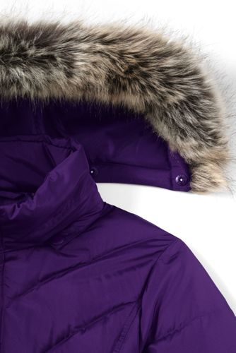 Women's Tall Faux Fur Hooded Down Winter Jacket