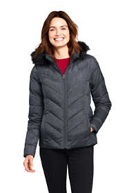 Women's Faux Fur Hooded Down Winter Jacket