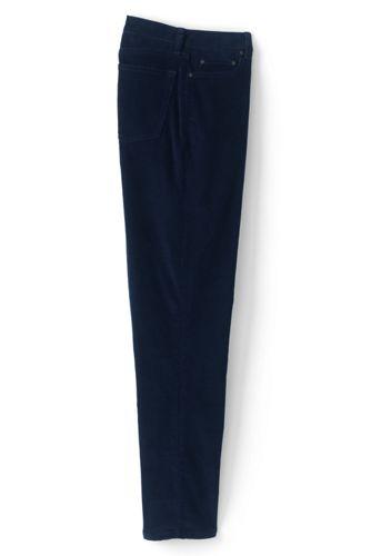 Pantalon en Velours Côtelé Doublé de Flanelle Coupe Classique, Homme Stature Standard