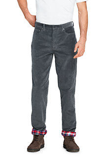 Men's Flannel-lined Cord Jeans, Traditional Fit