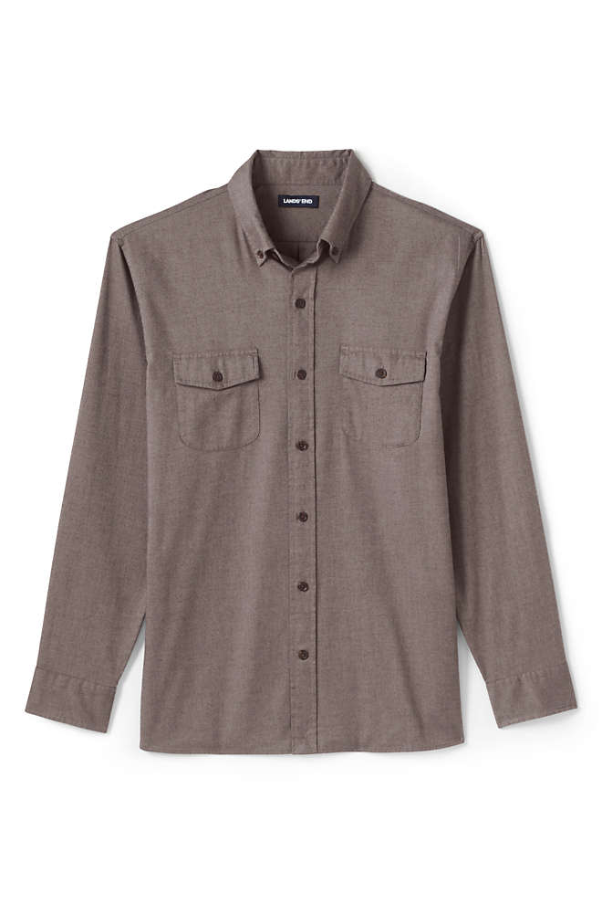 Men's Tall Traditional Fit Comfort-First Lightweight Flannel Shirt, alternative image