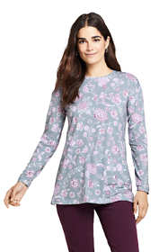 Women's Tall Moisture Wicking UPF Sun Long Sleeve Tunic Top Print