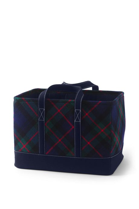 Plaid Storage Bin