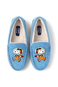 Kids Glow in the Dark Peanuts Snoopy Moccasin Slippers