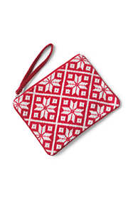 Medium Christmas Needlepoint Zipper Pouch
