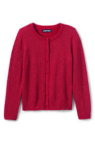Girls Plus Size Sparkle Cardigan Sweater