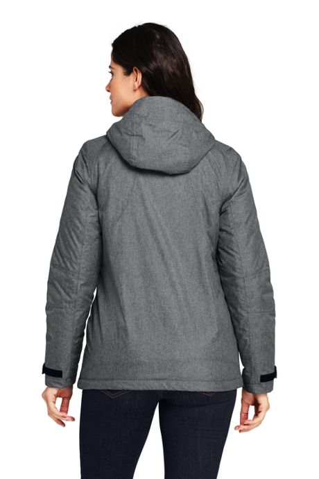 Women's Heathered Hooded Squall Winter Jacket