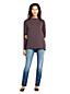 Women's Petite Funnel Neck Brushed Jacquard Top