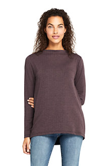 Women's Funnel Neck Brushed Jacquard Top