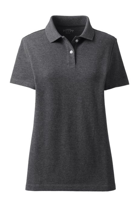 Women's Contrast Collar Basic Mesh Polo Shirt
