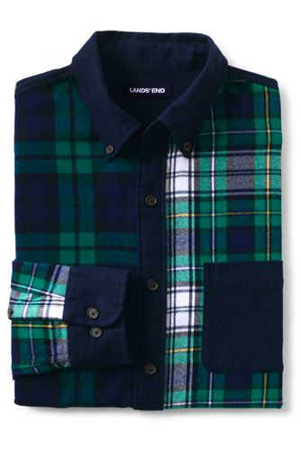 Men's Traditional Fit Color Block Flagship Flannel Shirt