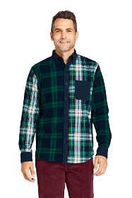 Men's Traditional Fit Color Block Flagship Flannel Shirt