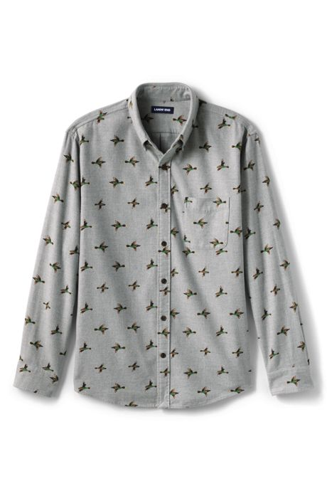 Men's Tailored Fit Printed Flagship Flannel Shirts