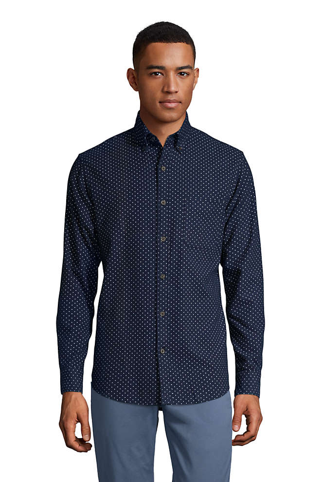 Men's Traditional Fit Printed Flagship Flannel Shirt, Front