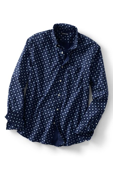 Men's Traditional Fit Comfort-First Shirt with Coolmax Printed