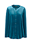 Women's Knitted Velvet Long Sleeve Tunic Blouse