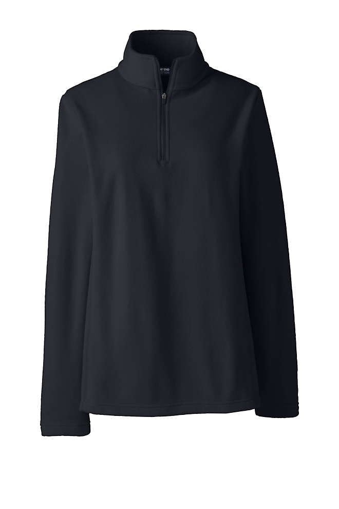 School Uniform Women's Thermacheck 100 Fleece Quarter Zip Pullover Top, Front