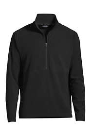 School Uniform Men's Regular Thermacheck 100 Fleece Qtr Zip Pullover Top