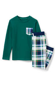 Boys Chest Pocket French Terry Pajama Set