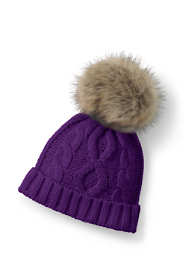 Girls Novelty Faux Fur Pom Hat