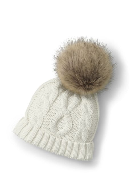 Girls Novelty Faux Fur Pom Hat