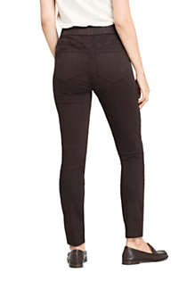 Women's Tall Curvy Elastic Waist High Rise Pull On Skinny Legging Jeans - Color, Back