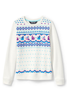 Girls' Sweatshirt with Festive Graphics