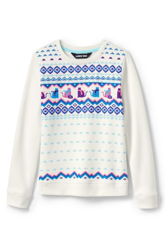Little Girls' Sweatshirt with Festive Graphics