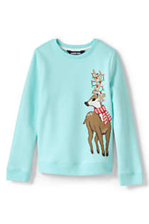 Girls Plus Size Christmas Sweatshirt, Front