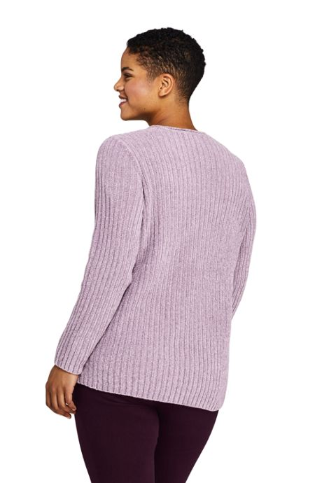 Women's Plus Size Chenille Boat Neck Sweater