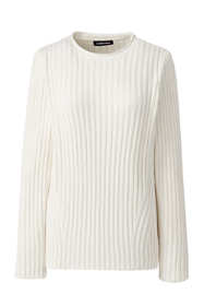 Women's Chenille Ribbed Crewneck Sweater