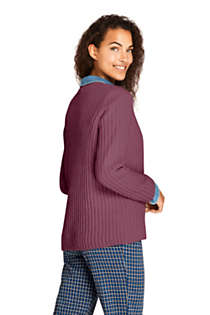 Women's Chenille Ribbed Crewneck Sweater, Back