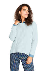 Women's Tall Chenille Ribbed Crewneck Sweater