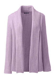 Women's Tall Chenille Ribbed Open Long Cardigan Sweater, Front