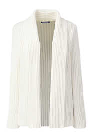 Women's Plus Size Chenille Ribbed Open Long Cardigan Sweater