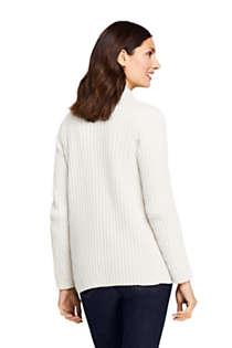 Women's Chenille Ribbed Open Long Cardigan Sweater, Back