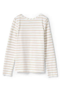 Little Girls Basic Long Sleeve T Shirt, Back
