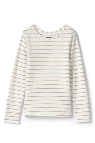Girls' Sparkle Stripe Long Sleeve Tee