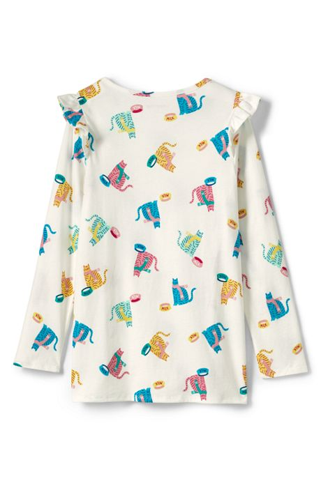 Girls Ruffle Shoulder Tunic Top