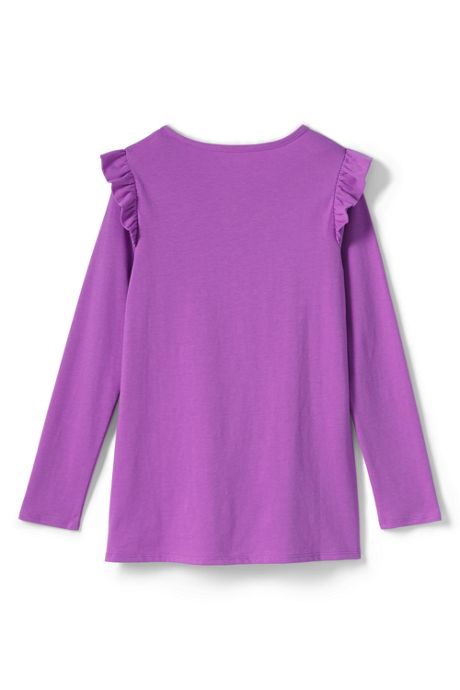 Little Girls Ruffle Shoulder Tunic