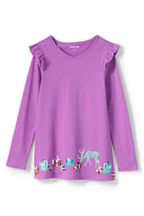 Girls Plus Size Ruffle Shoulder Tunic, Front