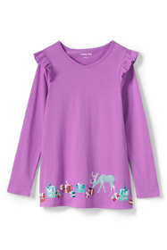 Girls Plus Size Ruffle Shoulder Tunic