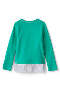 Girls Sweatshirt and Ruffle Hem Top, Back