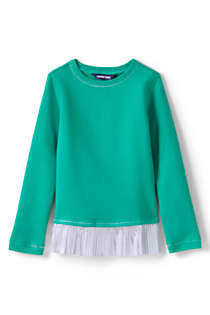 Girls Sweatshirt and Ruffle Hem Top, Front